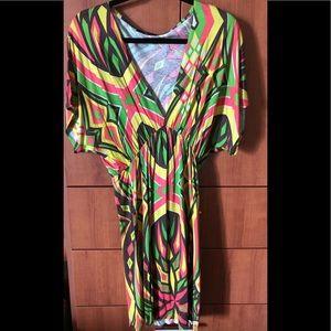 Multi-colored Bohemian festival tunic dress size M